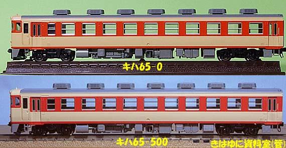 キハ65側面比較